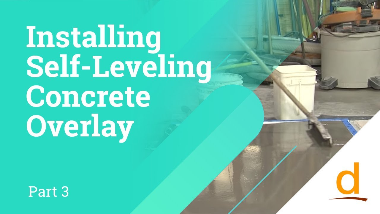 How To Install Self Leveling Concrete Overlay Part 3
