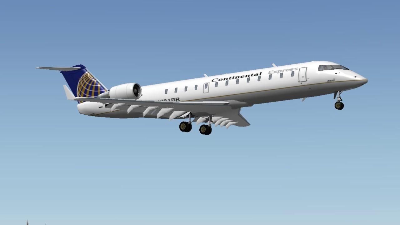 [X-Plane 9] United CRJ-200 Landing at LaGuardia Airport