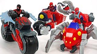Marvel Spider-Man Spider bot, Web wheeler and bike! | DuDuPopTOY