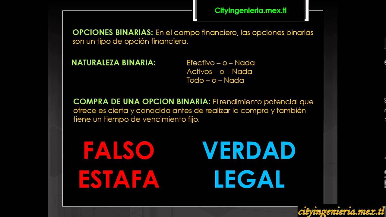Opciones binarias youtube estafa