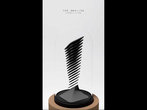 The Obelisk - First Render, Parametric Botanical Sculpture by TerraLiving