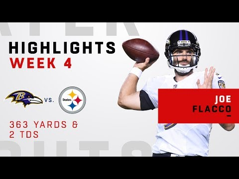 Joe Flacco on Fire w/ 363 Yards & 2 TDs vs. Pittsburgh