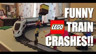 Funny LEGO Train Crashes with Sound Effects!!