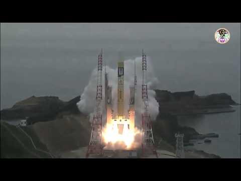 Launch of Japanese JAXA H-IIA carrying the QZS-2 (MICHIBIKI-2) sat