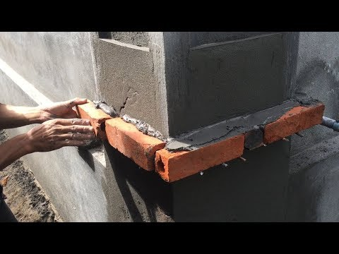 Amazing Techniques Building Column Foot With Brick Sand And Cement - How To Construction