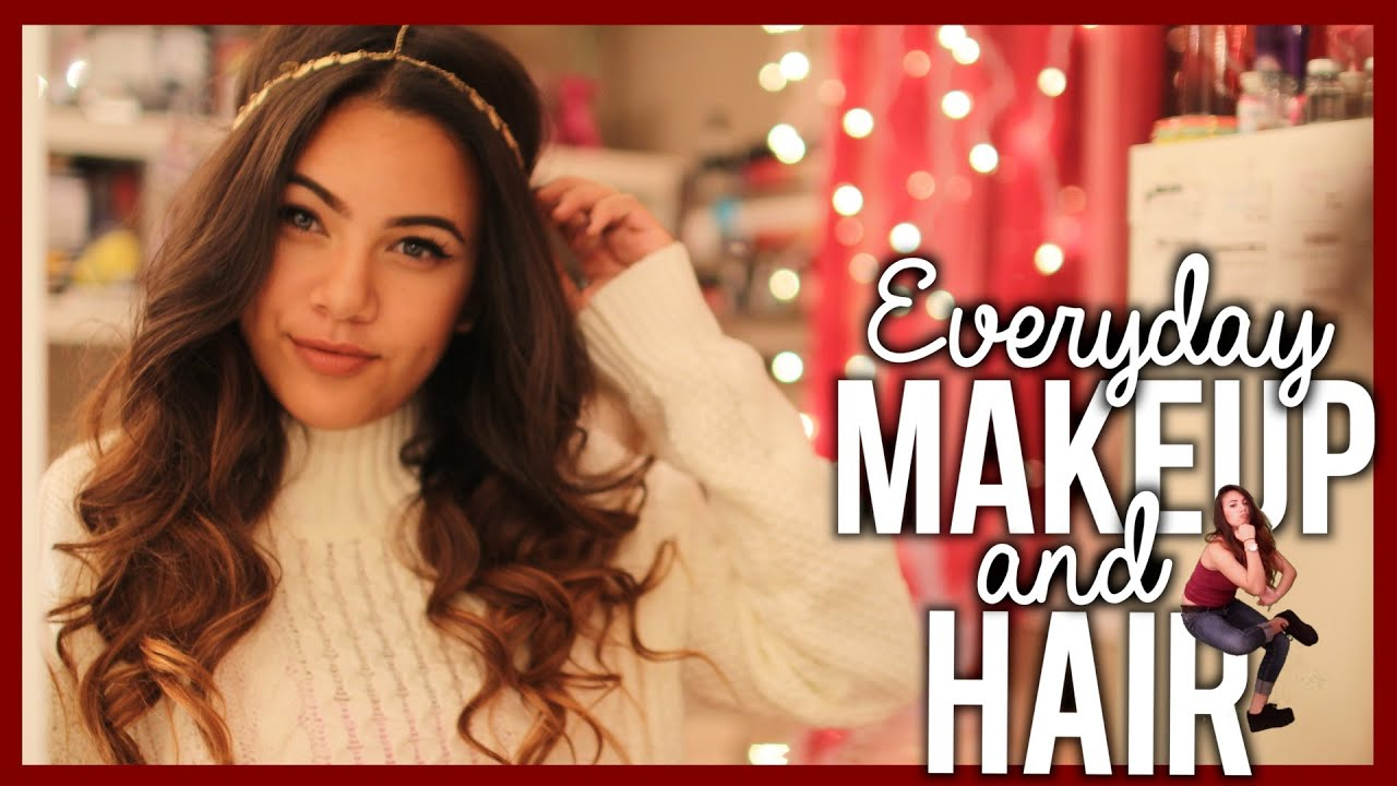 Tutorial: EVERYDAY MAKEUP AND HAIR (High School) - YouTube