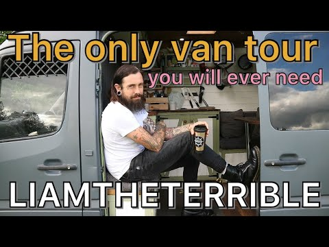 The only van tour you will ever need - urban stealth sprinter - #vanlife #liamtheterrible