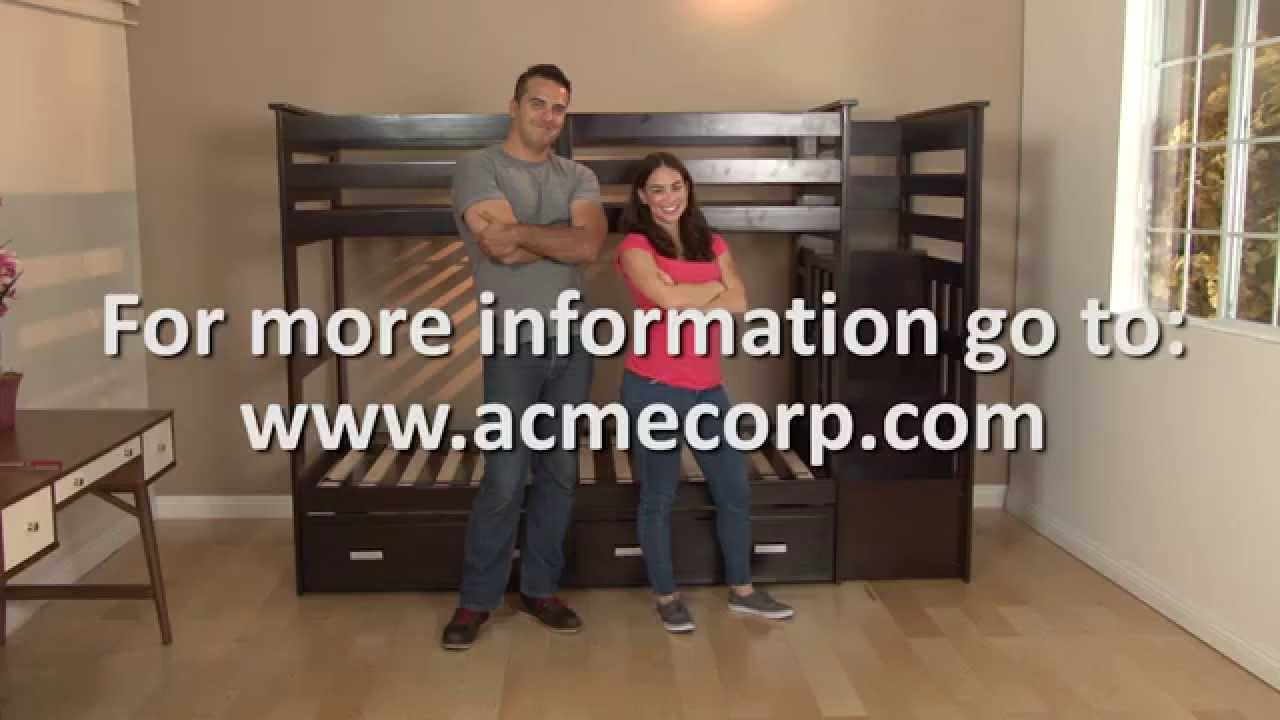 allentown twin twin bunkbed and trundle assembly video