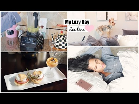 My Lazy Day Routine 2015 - Fall Morning Routine Brunch Recipe Eggs Benedict - MissLizHeart
