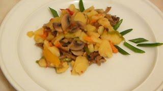 Тушеные овощи с шампиньонами