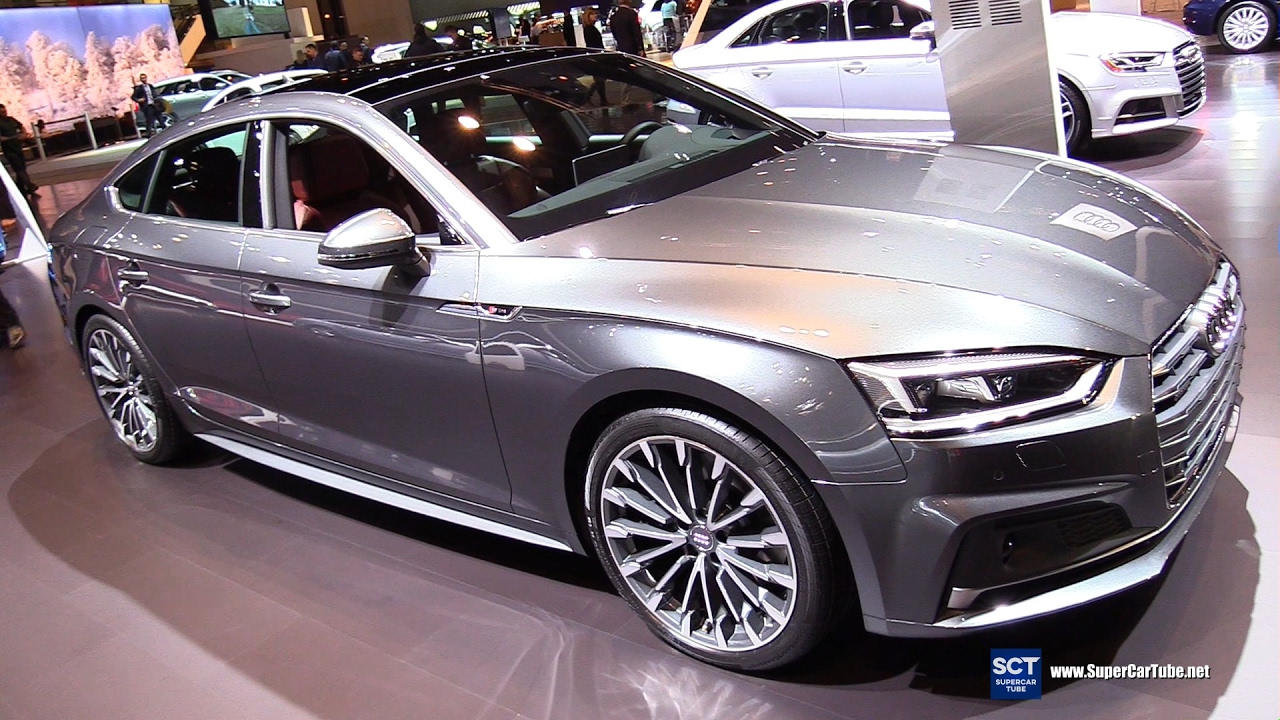 2018 audi a5 sportback tfsi quattro exterior interior walkaround 2017 chicago auto show. Black Bedroom Furniture Sets. Home Design Ideas