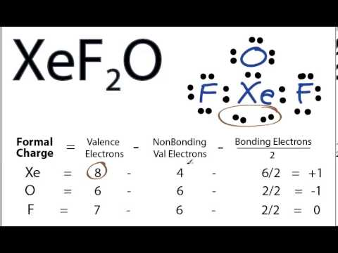 Xef2o Lewis Structure