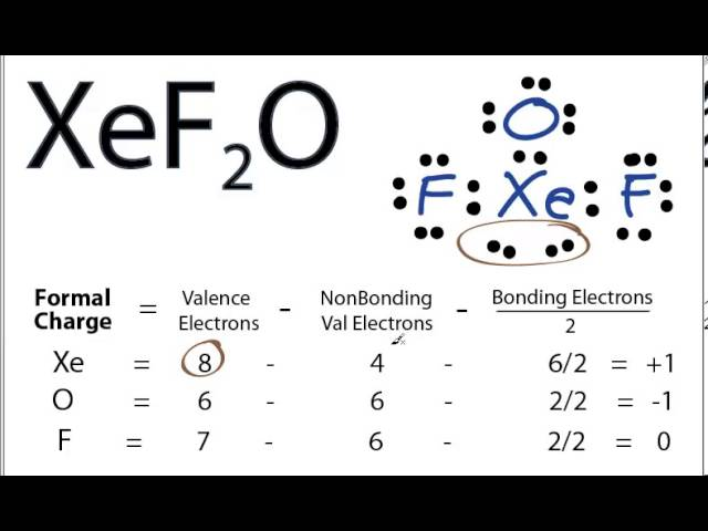 Xeo2f2 lewis dot structure