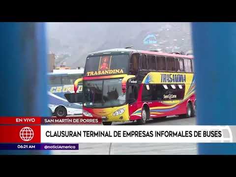 América Noticias: Clausuraron terminal informal en Fiori