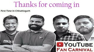 Technical Guruji Live at Raipur|| Thanks Video 2017|| Youtube Fan carnval Raipur