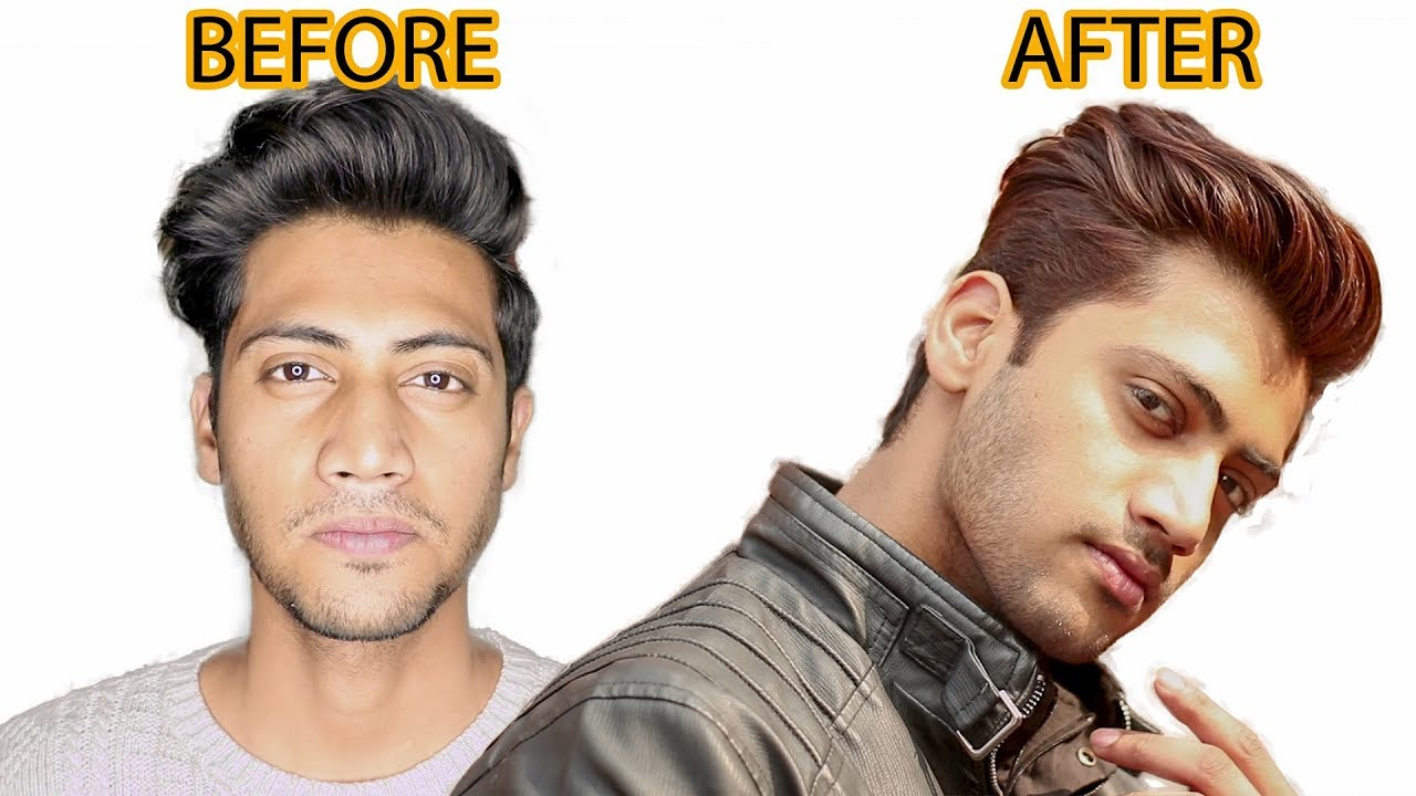 Best Safe Way To Colour Men Hair At Home Black To Brown Hair Colour Transformation 2019 Youtube