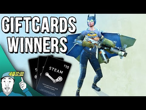 STEAM GIFT CARDS GIVEAWAY WINNERS