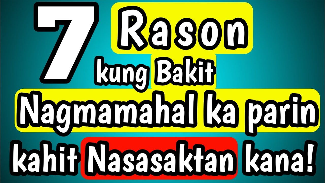 Bakit Tayo Patuloy na Nagmamahal kahit Nasasaktan na Tayo?