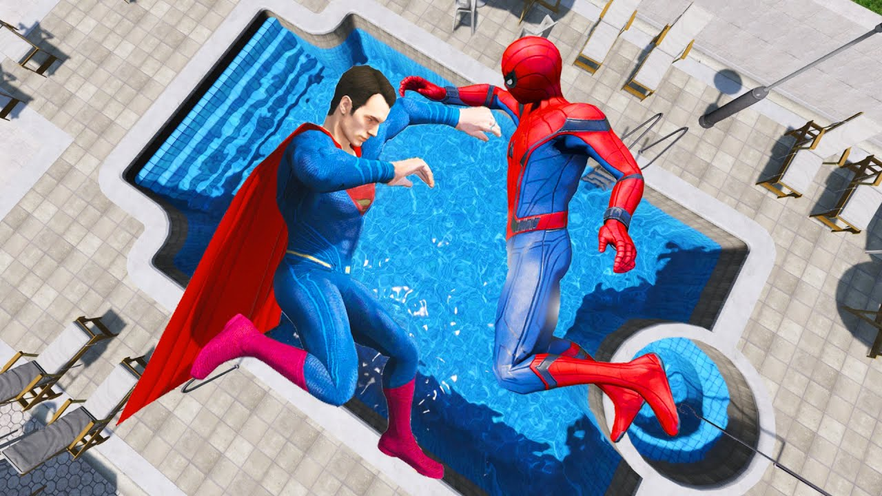 GTA 5 Water Ragdolls | Spiderman & Superman Jumps/Falls (Euphoria Physics | Funny Moments)