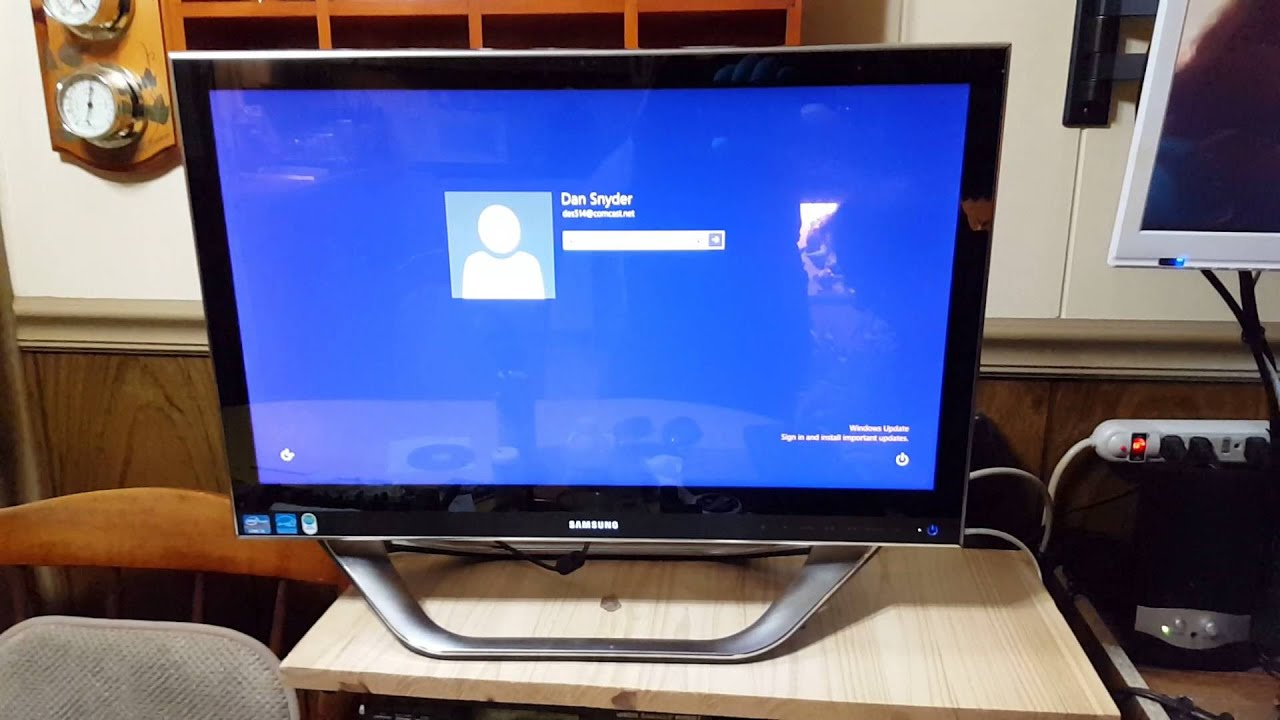 First Boot Samsung All In One Pc Dp700a3d With New Copied Hard