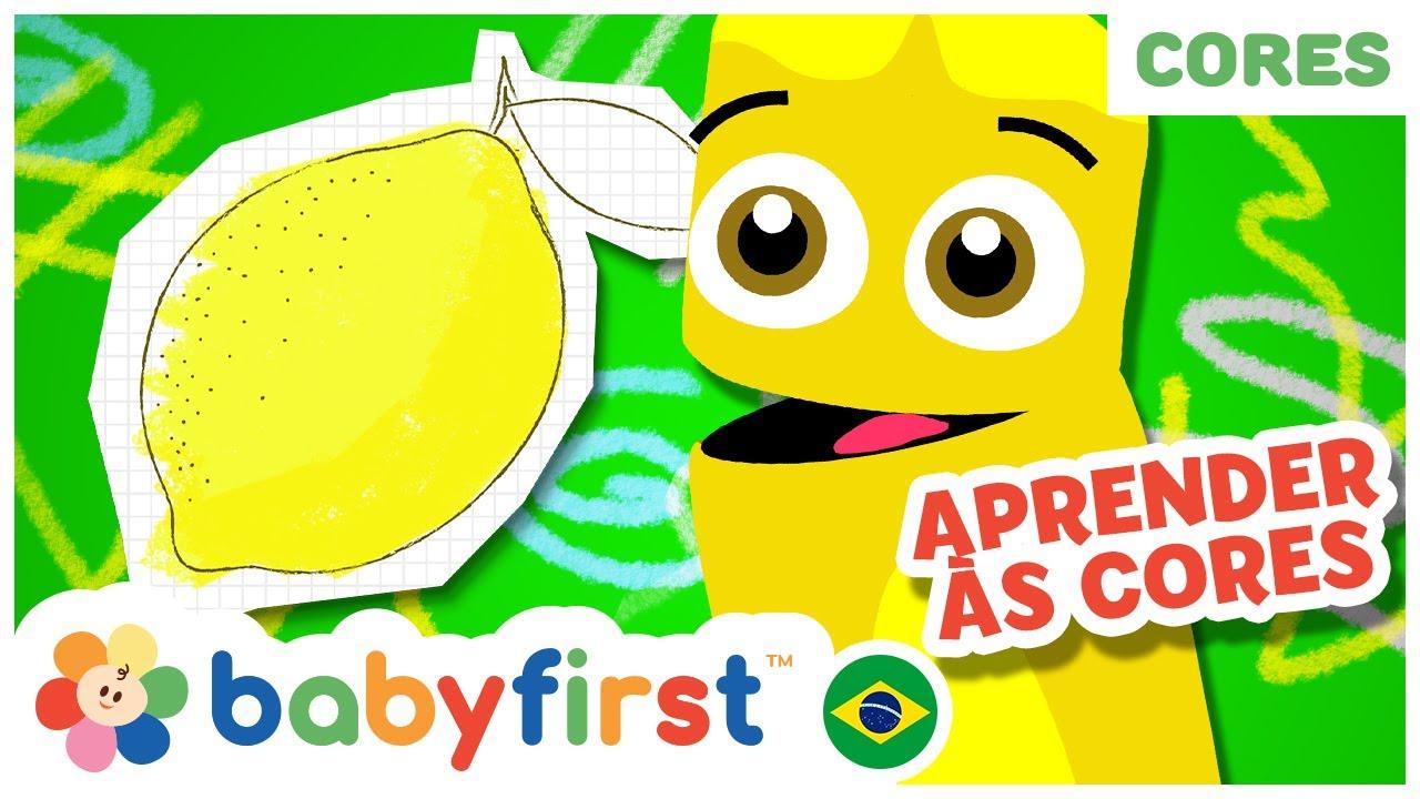 Aprender as Cores para Crianças   Desenhos Animados em Português  Rimas para bebês  BabyFirst Brasil
