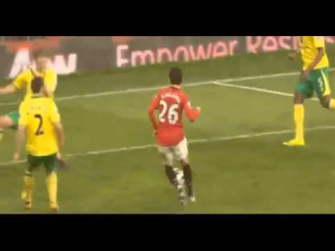 manchester united vs Norwich city 4-0 triple de kagawa  2_3_13