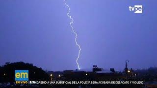 Arequipa volvió a sufrir una noche de tormentas eléctricas y lluvia