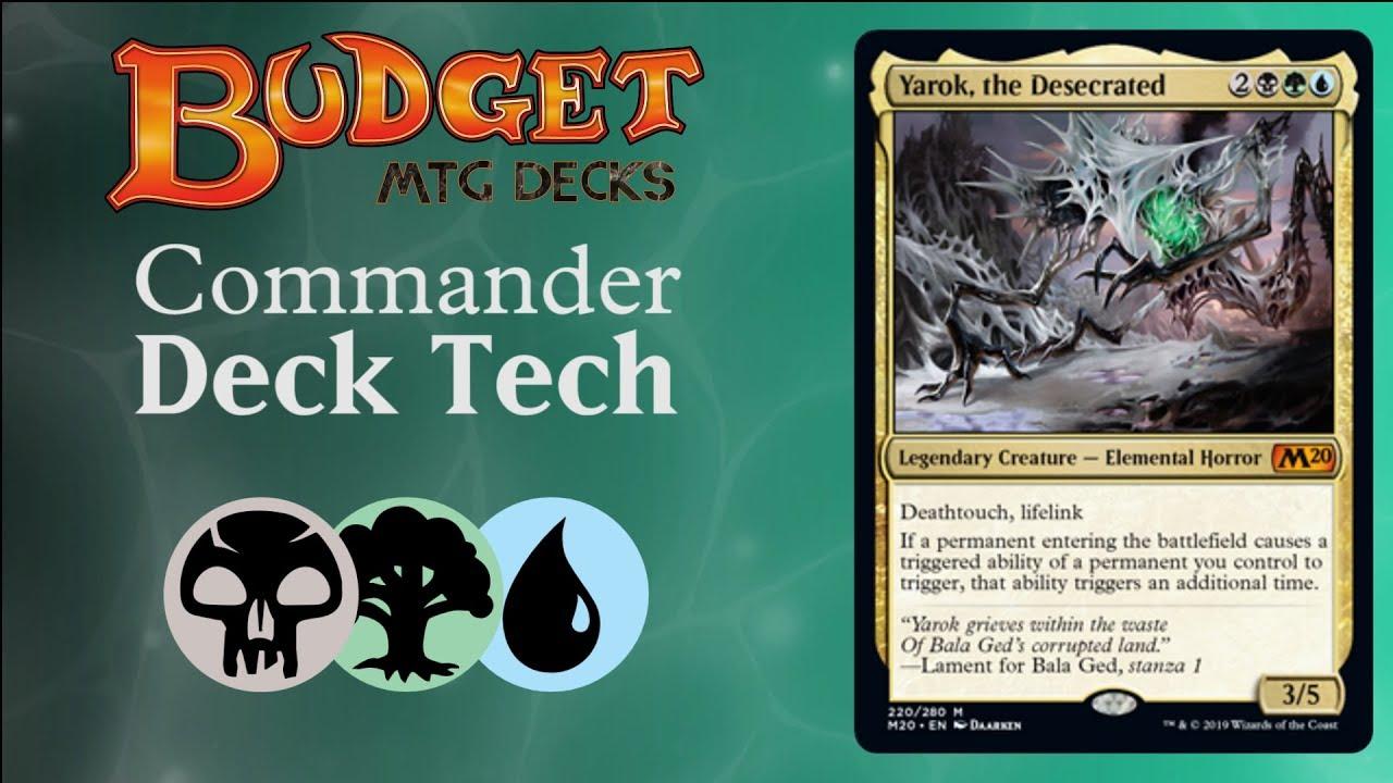 Budget Yarok, the Desecrated - EDH/Commander ETB TRIGGERS