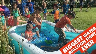 BIGGEST Water Balloon Fight EVER at Clamour 2018 Highlights Palm Springs || Keith