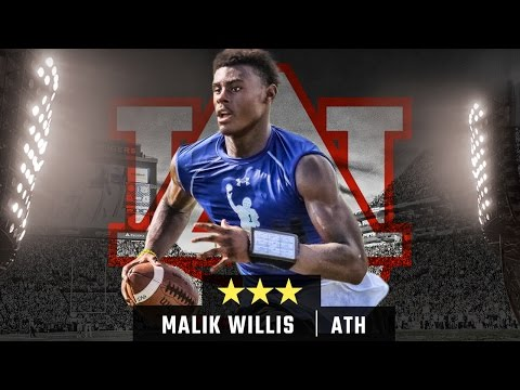 Auburn freshman Malik Willis works out with private quarterback coach