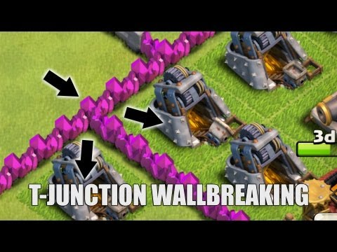 Clash of Clans - Part 28 - T-Junction Wall breaking  Outsmarting the A.I. Barbarian King
