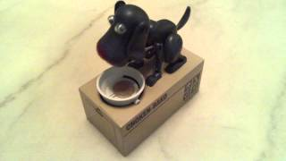 Choken Bako Electronic Eating Coin Dog Peggy Bank Money Saving Box