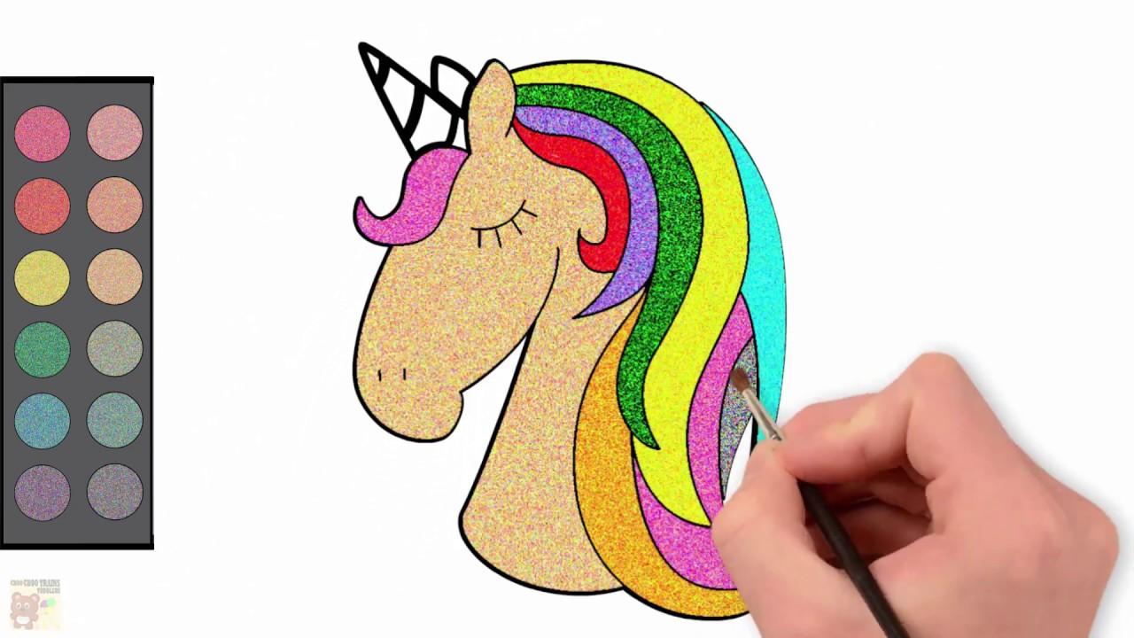 Einhorn Fur Kinder Zeichnen Glitzer Farbung Fur Kleinkinder