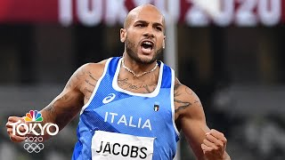 Italy's Marcell Jacobs SHOCKS THE WORLD to win men's 100m gold | Tokyo Olympics | NBC Sports