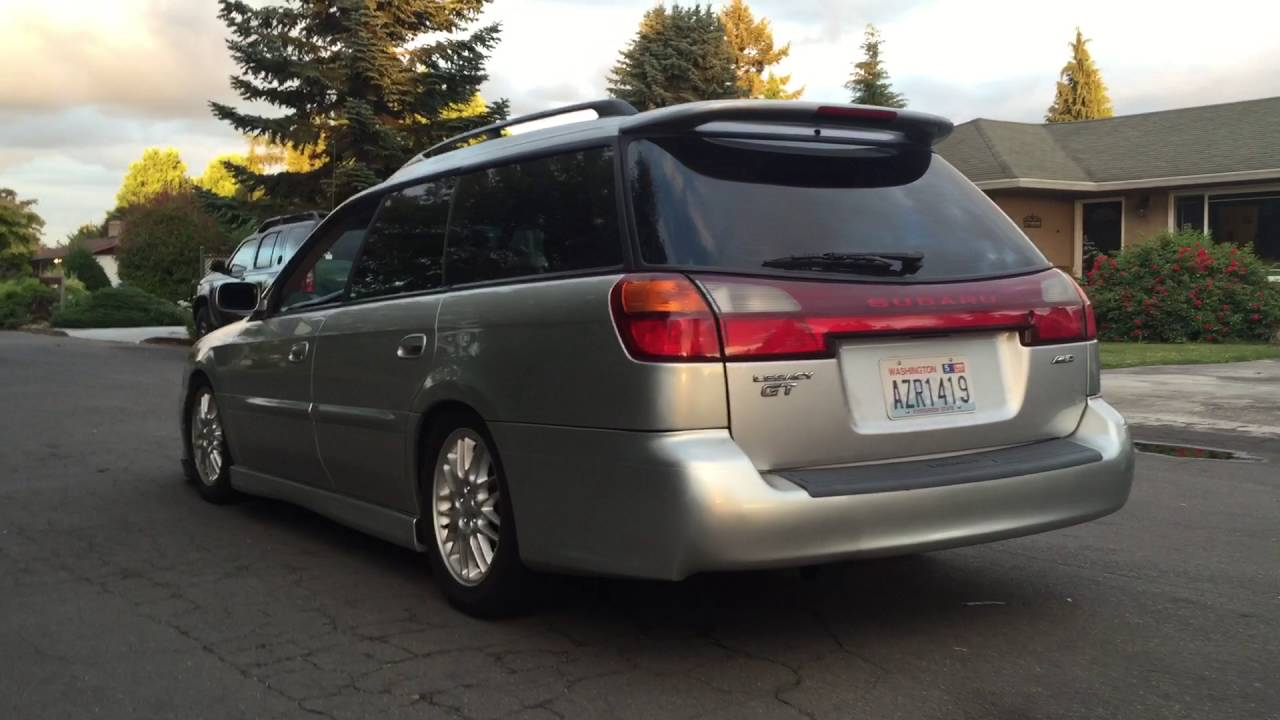 Subaru Boxer Engine >> 2002 Subaru Legacy GT Wagon Cat Back Straight Pipe Exhaust ...
