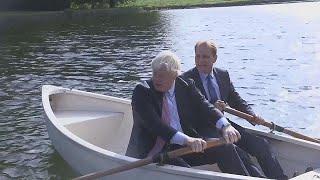 Boris on a boat