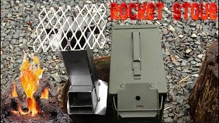 Rocket Stove Ammo Can 50 Cal. Survival Preppers Stove