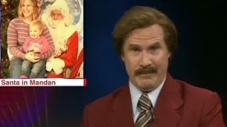 Anchorman Ron Burgundy crashes newscast