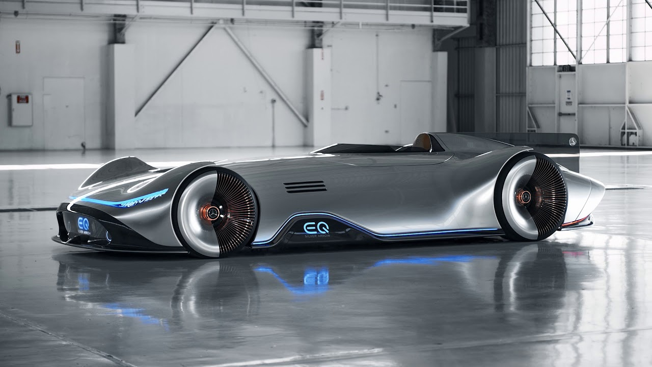 Mercedes Vision EQ Silver Arrow footage - YouTube