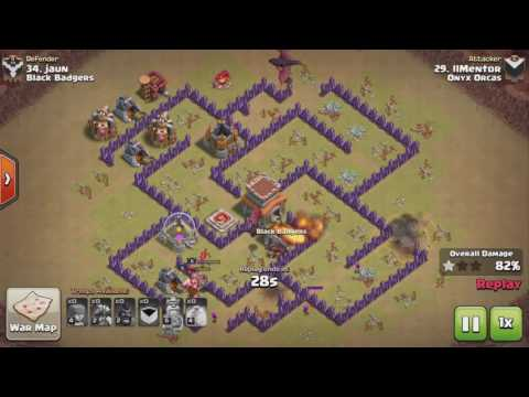 Clash of Clans TH7 DragRider (Dragon Rider, Hogon) 3 STAR ATTACK