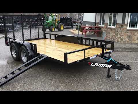 Lamar UT07 7x14' 7000# Tandem Axle Utility Landscape Trailer Side ATV Ramps Rear Gate UT831623ATV