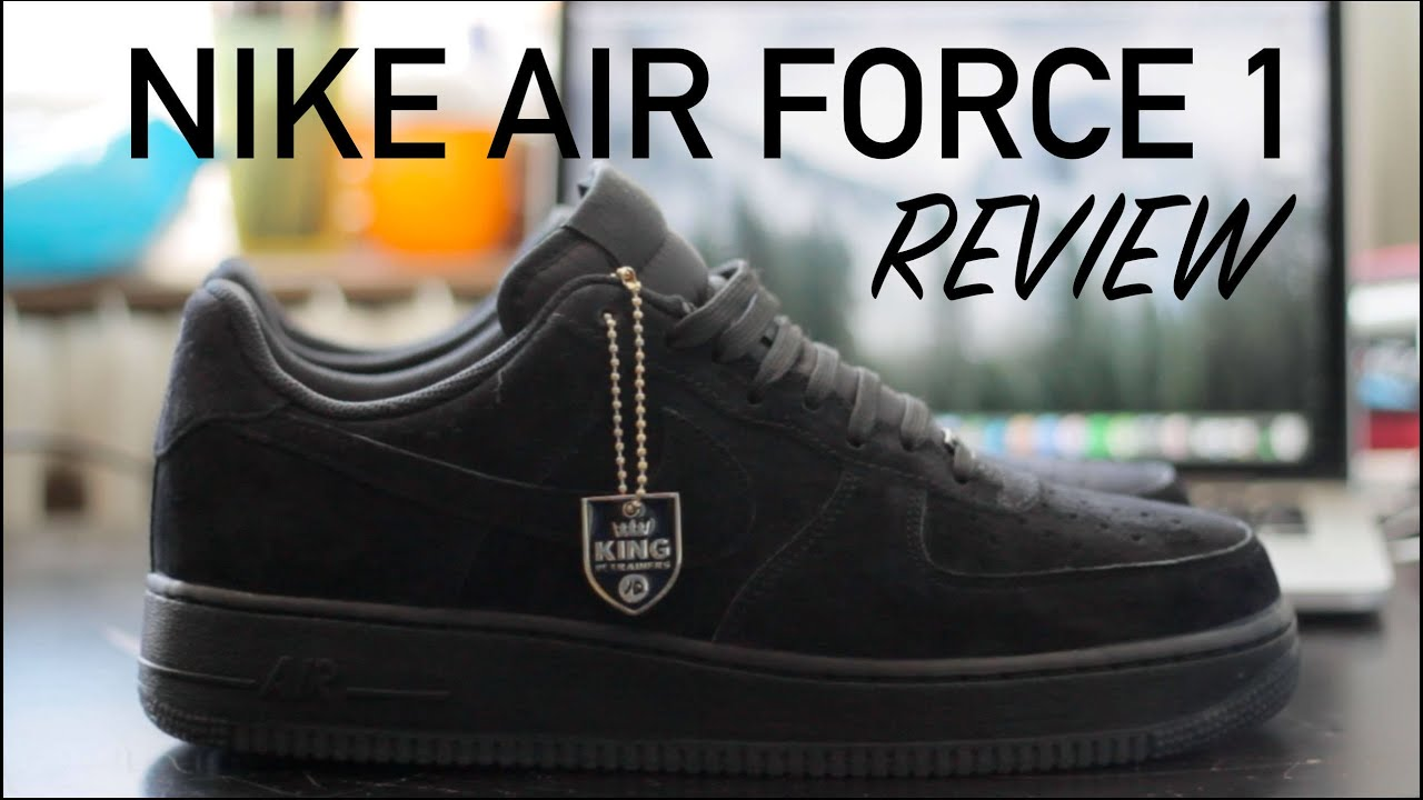 various colors cb60d 10d56 Nike Air Force 1   Low   All Black   Suede   Review