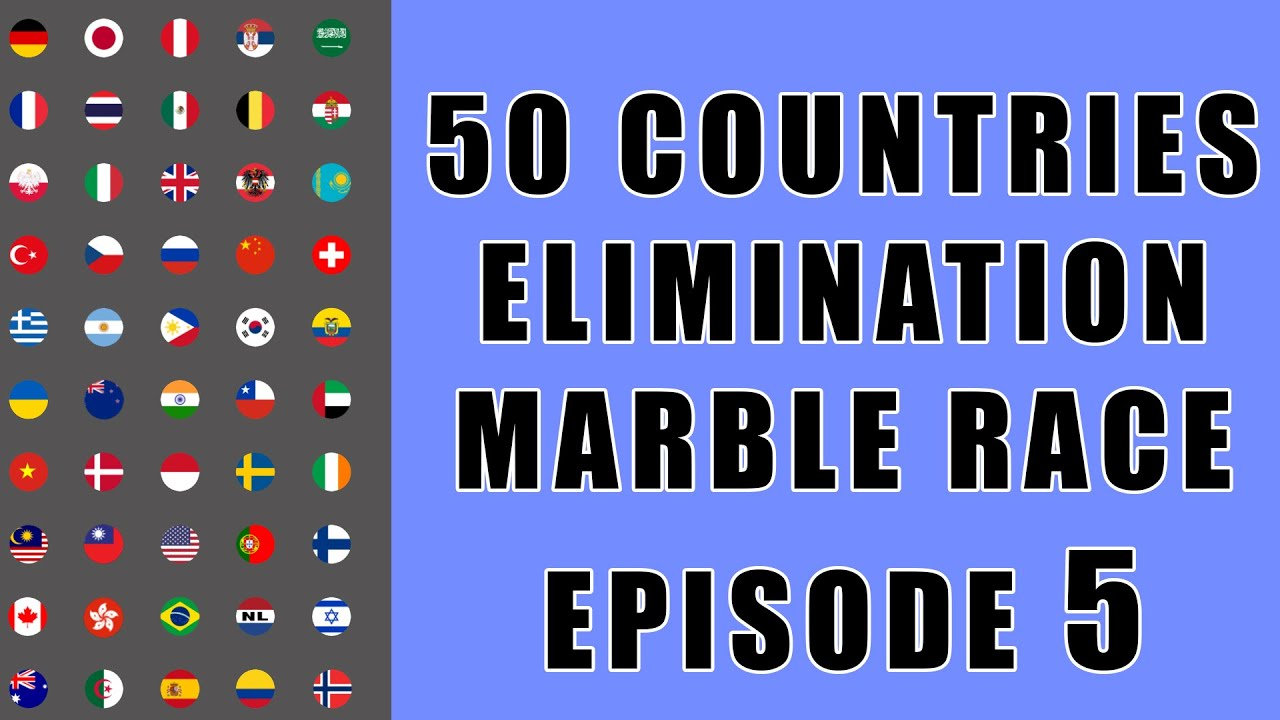 50 Countries Elimination Marble Race 5 in Algodoo \ Marble Race King