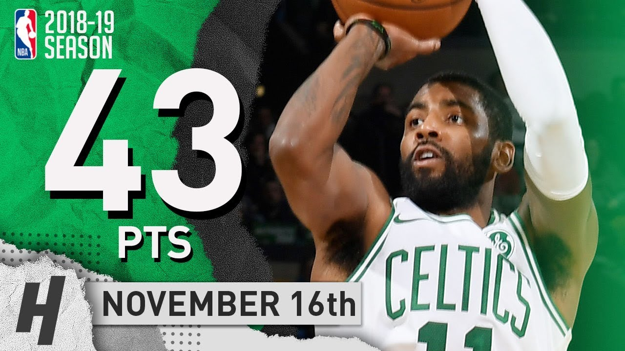 Kyrie Irving EPIC Highlights Celtics vs Raptors 2018.11.16 - 43 Pts ... e6ec0fc85d