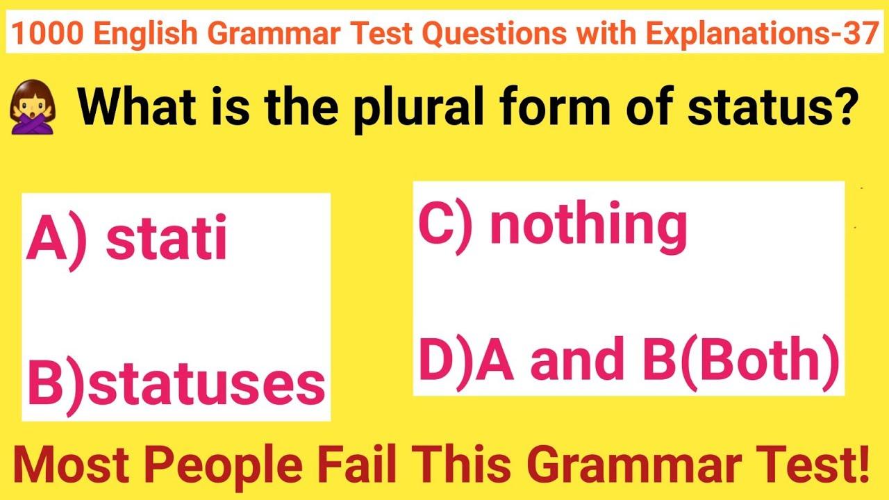 Status English Plural
