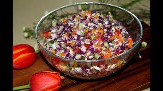 Салат из свежих овощей. Витаминный салат. Салат без майонеза. Моя Dolce vita