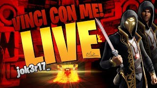 LIVE FORTNITE - TODAY PATCH 9.20 - SKIN REGALO AND NEW MOD A 100 SUPPORTER - GAME WITH YOU