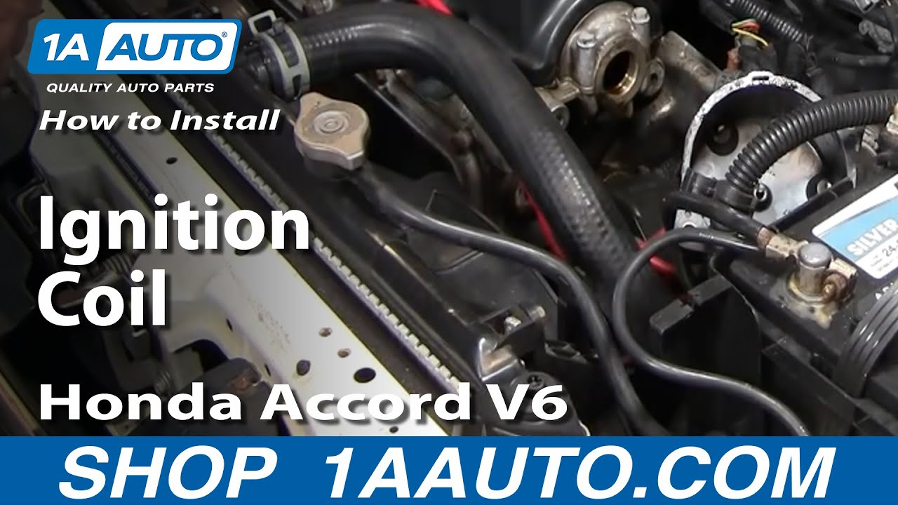 how to install replace ignition coil honda accord v6 2 7l 95 97 2003 honda accord v6 engine diagram how to install replace ignition coil honda accord v6 2 7l 95 97 1aauto com youtube