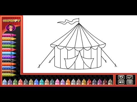 Circus Tent Coloring Pages For Kids  Circus Tent Coloring Pages