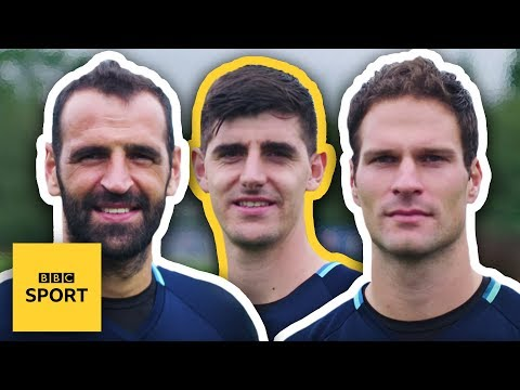 Chelsea keepers' NFL challenge - BBC Sport